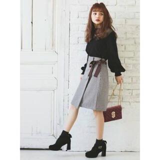 GRL - ギンガムチェックリボンラップスカート
