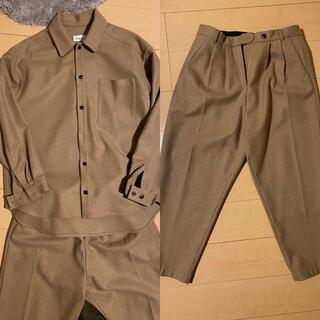 UNUSED - lownn セットアップ over shirt/Oro 2tuck slacks