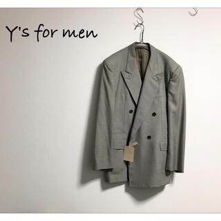 Yohji Yamamoto - LQ Y's for men ダブル ジャケット モード ヨウジヤマモト タグ