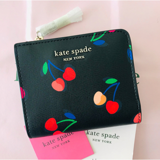 kate spade new york - 早い者勝ち★Kate spade spencer cherries 折り財布