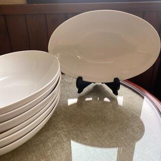 ニトリ(ニトリ)の楕円型 ボウル皿 カレー皿 7枚(食器)