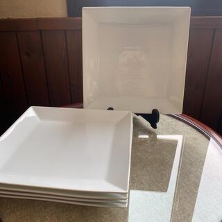 ニトリ(ニトリ)のスクエア型 メインプレート 5枚 27センチ(食器)
