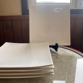 ニトリ(ニトリ)のスクエア型 メインプレート 5枚 27.7センチ(食器)
