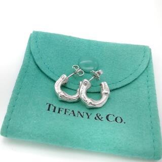 Tiffany & Co. - 希少 美品 ヴィンテージ ティファニー バンブー フープ ピアス QP30