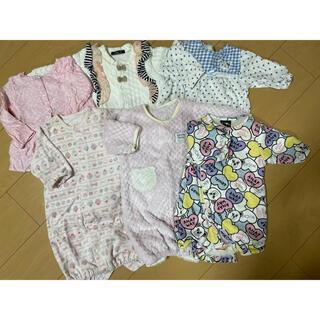 アナップ(ANAP)の女の子洋服 厚手ロンパース サイズ50-70(カバーオール)