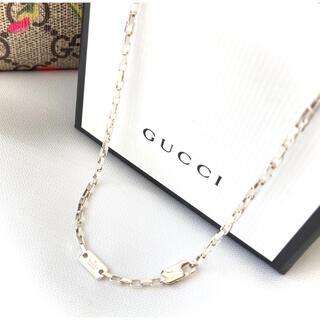 グッチ(Gucci)の正規品 GUCCI/グッチ スクエアチェーンネックレス(42.5cm) シルバー(ネックレス)