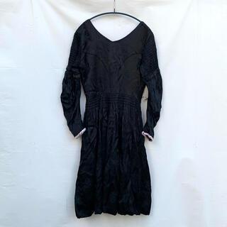 グリモワール(Grimoire)の40-50's Vintage JQD Satin long dress(ロングワンピース/マキシワンピース)