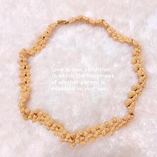【vintage】ゴールド粒々チョーカー ネックレス 美品 ヴィンテージ