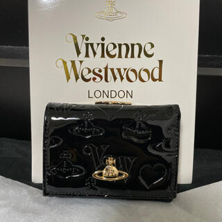Vivienne Westwood - ヴィヴィアン 財布 三つ折り エナメル ブラック Vivienne