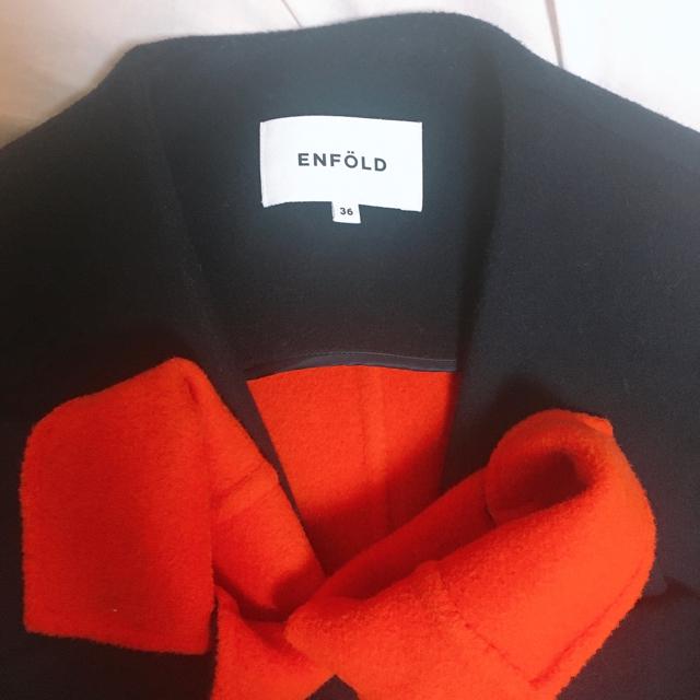 ENFOLD(エンフォルド)のenfold ウールリバーコート レディースのジャケット/アウター(ロングコート)の商品写真