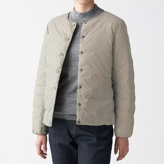 MUJI (無印良品) - ◆新品◆ 無印良品 軽量ポケッタブルダウンジャケット/ライトベージュ/L