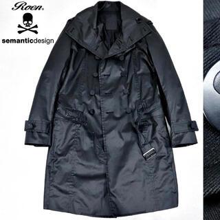 ロエン(Roen)のロエン x セマンティックデザイン ブラック トレンチコート(トレンチコート)