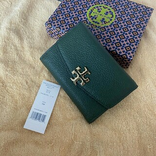 Tory Burch - 【MALACHITE緑】Tory Burch トリーバーチ 折財布 新品