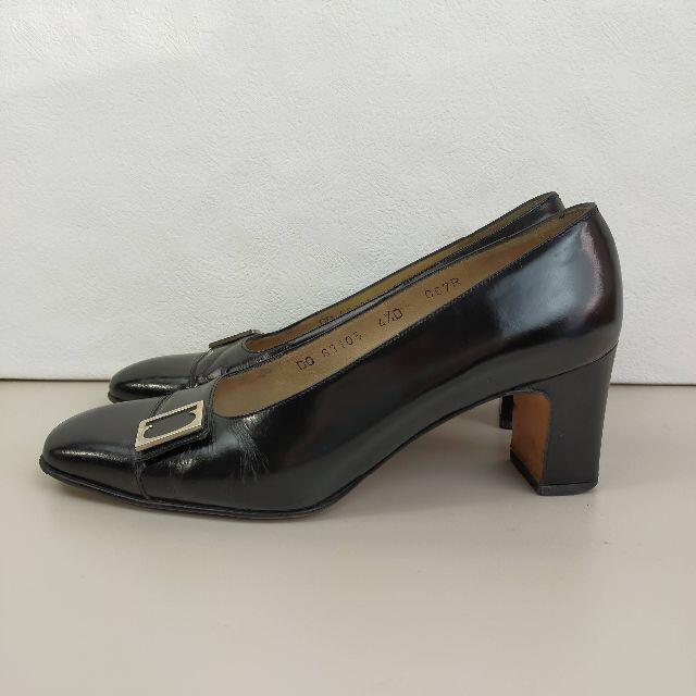 サルバトーレ フェラガモ パンプス 4 1/2 22cm 黒 レザー レディースの靴/シューズ(ハイヒール/パンプス)の商品写真
