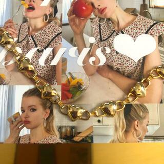 Ameri VINTAGE - ゴールドハート♡ネックレス
