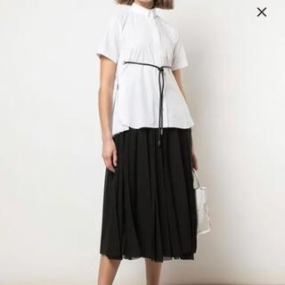 sacai - sacai サカイ サイドプリーツシャツ