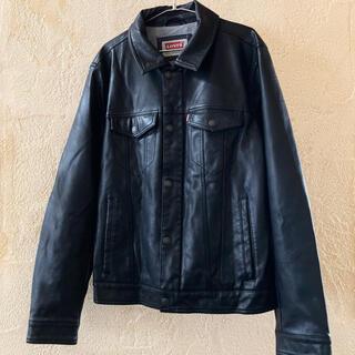 Levi's - リーバイス ビニールレザー デニムジャケット ブラック 黒 古着 90s