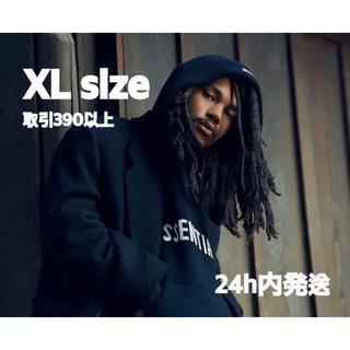 エッセンシャル(Essential)のESSENTIALS KNIT LOGO HOODIE BLACK XLサイズ(パーカー)