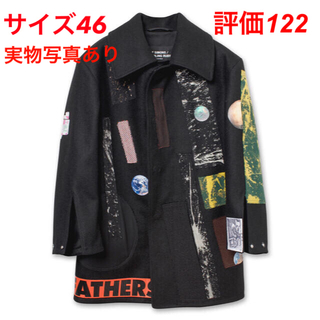 RAF SIMONS - Large sterling caban with patches