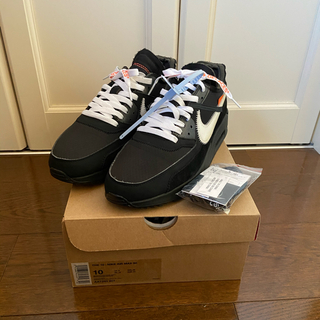 NIKE - NIKE Off-White Air Max 90 black 28cm