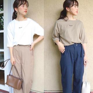 しまむら - しまむら×てらコラボ!TERAアシメTシャツベージュterawear rummy