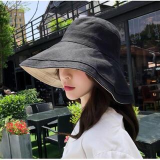 ハット レディース UVカット 帽子 つば広 日焼け防止 小顔効果 あご紐(その他)