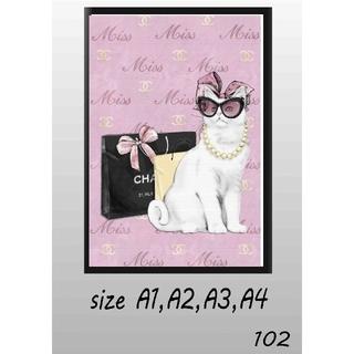 A1〜A4 サイズ ポスター イラスト アート インテリア フレーム