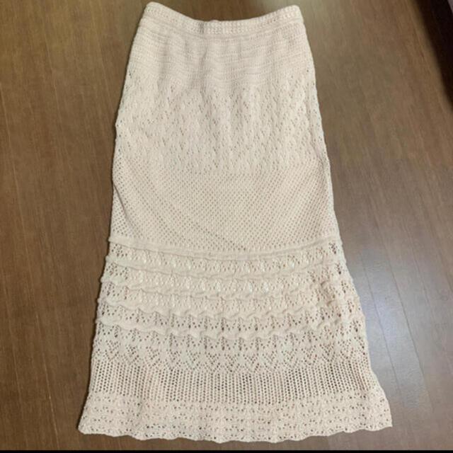 PROPORTION BODY DRESSING(プロポーションボディドレッシング)のEDIT COLOGE 透かし編みマキシスカート レディースのスカート(ロングスカート)の商品写真