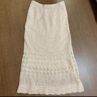 PROPORTION BODY DRESSING - EDIT COLOGE 透かし編みマキシスカート