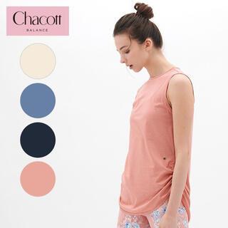 チャコット(CHACOTT)の●新品●チャコット 公式(chacott) サイドドローストリングTシャツ(ヨガ)