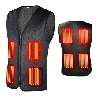 電熱 ベスト 電熱ジャケット 8枚ヒーター内蔵 防寒 USB接続 バッテリー給電