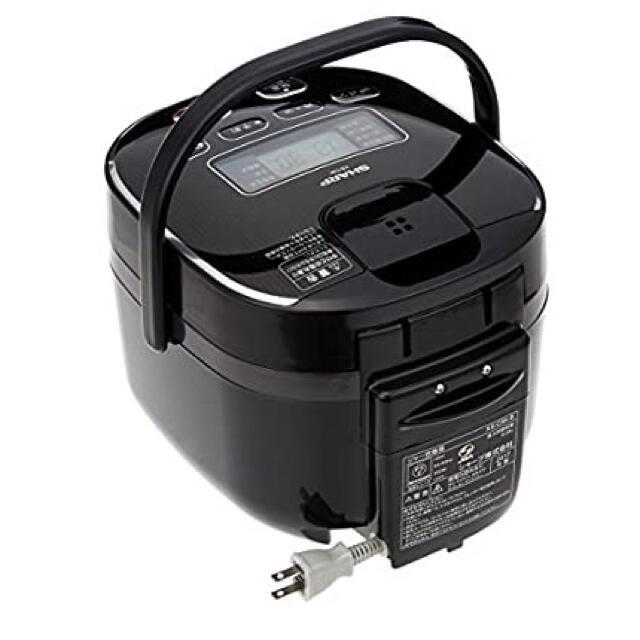 SHARP(シャープ)のシャープ 炊飯器 3合 黒厚釜 球面炊き ブラック KS-C5K-B スマホ/家電/カメラの調理家電(炊飯器)の商品写真