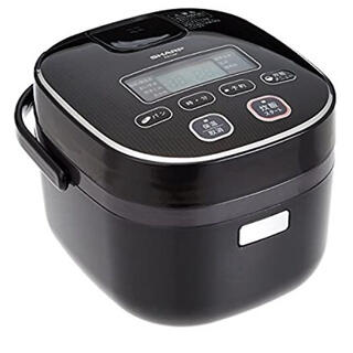 SHARP - シャープ 炊飯器 3合 黒厚釜 球面炊き ブラック KS-C5K-B