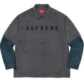 Supreme - Supreme 2-Tone Work Shirt Dark Grey シャツ