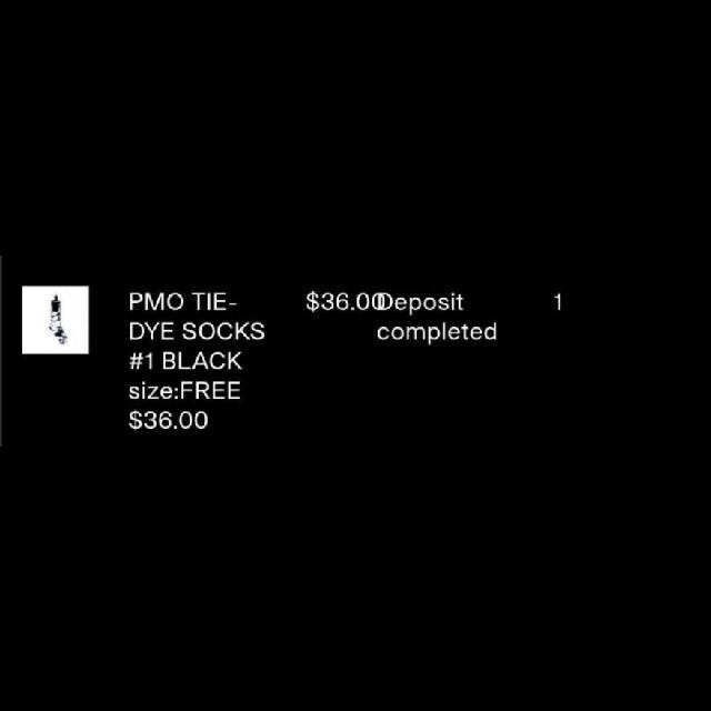 PEACEMINUSONE(ピースマイナスワン)の値下げ【PMO 正規品】PEACEMINUSONE TIE-DYE SOCKS メンズのレッグウェア(ソックス)の商品写真