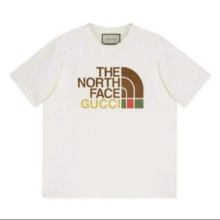 Gucci - gucci the north face Tシャツ Mサイズ 白