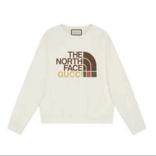 Gucci - gucci the north face sweatshirt スウェット 白