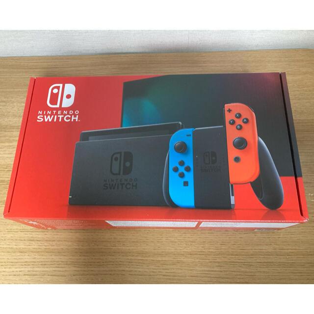 Nintendo Switch(ニンテンドースイッチ)の新品未使用 nintendo switch ネオンブルー エンタメ/ホビーのゲームソフト/ゲーム機本体(家庭用ゲーム機本体)の商品写真