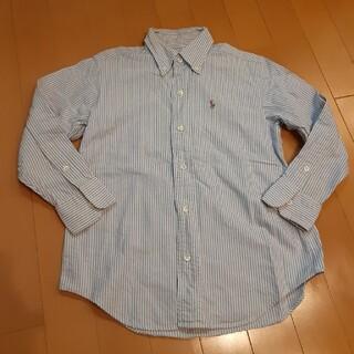 Ralph Lauren - ラルフローレン130定番水色ストライプボタンダウンシャツ