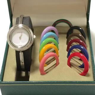 グッチ(Gucci)の7.美品 グッチ GUCCI 時計 チェンジベゼル(腕時計)