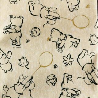 クマノプーサン(くまのプーさん)の生地 ディズニー くまのプーさん イエロー 手書き風 日本製(生地/糸)