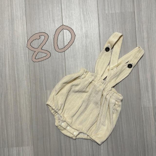 futafuta(フタフタ)のにゃんたろ様専用 バースデイ conoco うさ耳サロペット 80 キッズ/ベビー/マタニティのベビー服(~85cm)(ロンパース)の商品写真