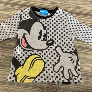 ディズニー(Disney)のディズニー ワッフル生地 長袖Tシャツ 100cm(Tシャツ/カットソー)