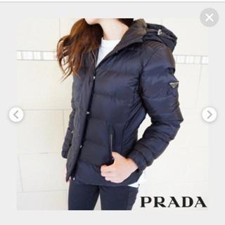 PRADA - プラダ ショートダウン 38 ブラック