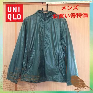 ユニクロ(UNIQLO)のUNIQLO パーカージャケット メンズ オリーブ Mサイズ 美品(パーカー)