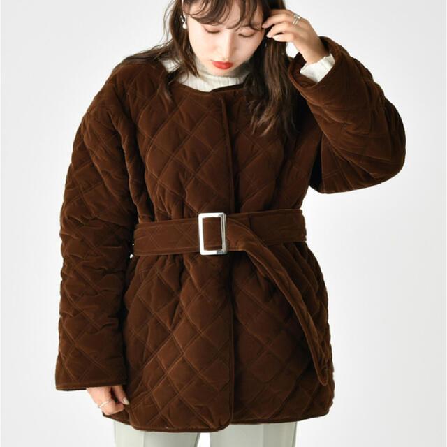 mystic(ミスティック)のキルティングジャケットコート レディースのジャケット/アウター(ダウンジャケット)の商品写真