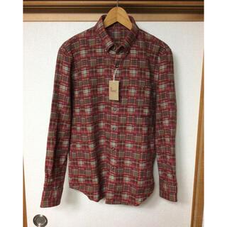 メンズ チェックシャツ  PaPas パパス  Mサイズ 新品未使用   赤(シャツ)