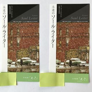 「永遠のソール.ライター」の招待券 2枚
