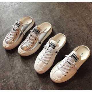 女性 着用 小さな白い靴 厚底 シューズ スポーツシューズ(スニーカー)