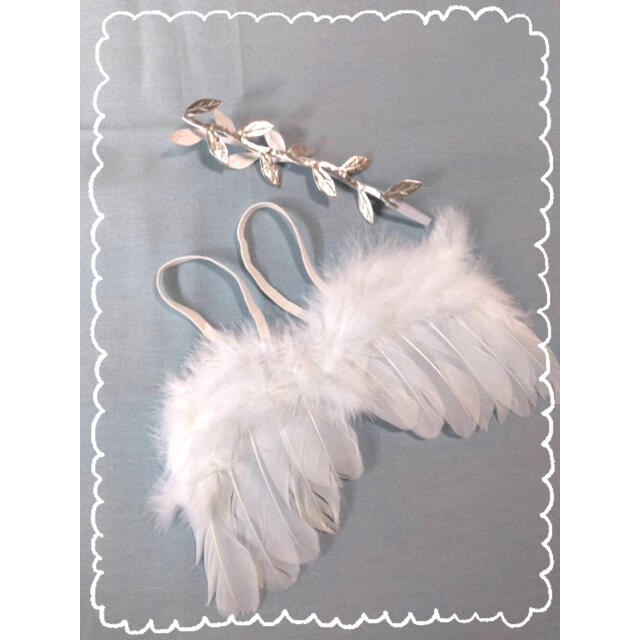 【送料無料】天使の羽根セット ベビー コスチューム キッズ/ベビー/マタニティのこども用ファッション小物(その他)の商品写真